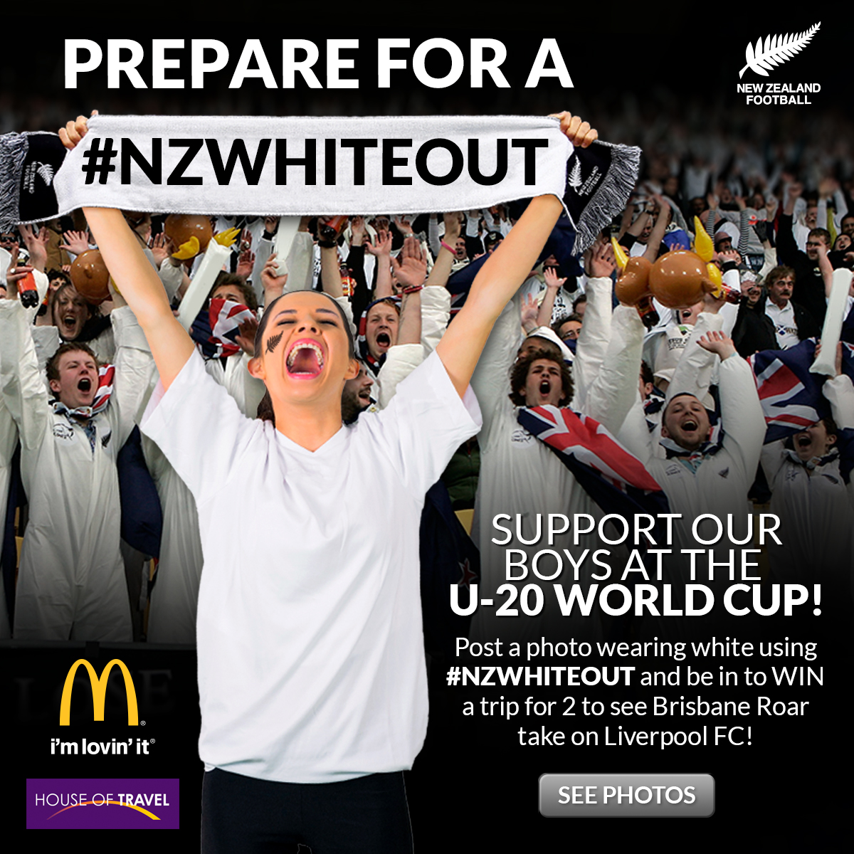 Prepare for a #NZWhiteout - Support our boys at the U-20 World Cup and be in to win a trip to see Liverpool play in Brisbane