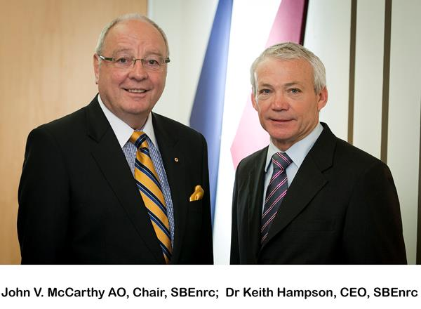 John V. McCarthy AO, Chair, SBEnrc; Dr Keith Hampson, CEO, SBEnrc