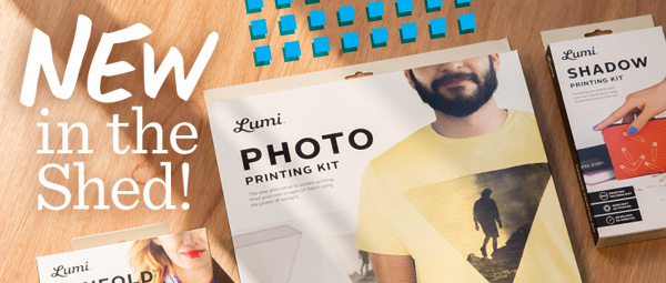 New in the Shed! Lumi printing kits.