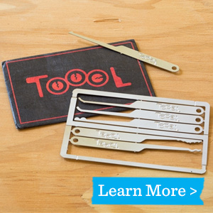 TOOOL Emergency Lock Pick Card