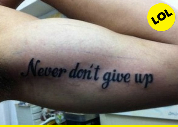 don't give up, don't never give up