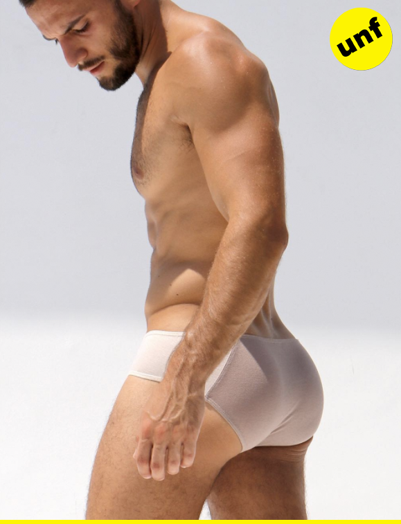 Benny's brand new, nice-and-tight briefs have got us in the mood for nude.