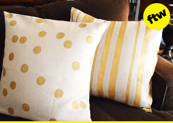 Pillows are perfect.