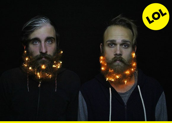 see, now THAT is how you combine a mustache and lights in your beard