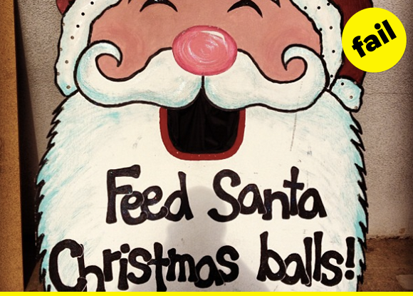 Feed you WHAT, Santa?