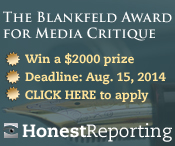 The Blankfeld Award for Media Critique